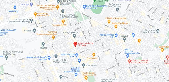 Sativa Headshop Toumpa Google Maps